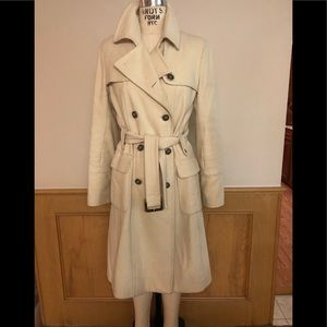 Laundry by Shelli Segal cream fitted pea coat